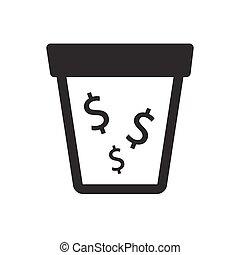 argent, drain, icône