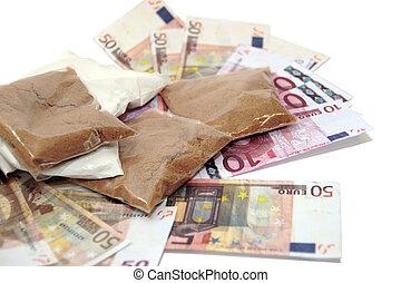 argent, drogue