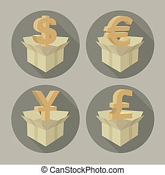 argent emballe, signes
