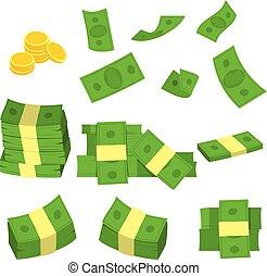 argent, ensemble, vert, collection