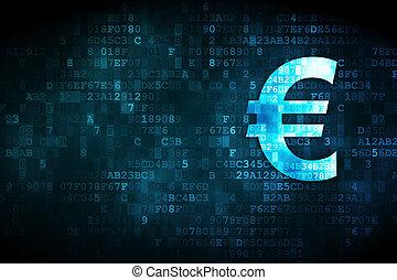 argent, euro, concept:, fond, numérique