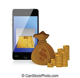 argent, faire, concept, financier