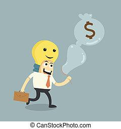 argent, faire, idées