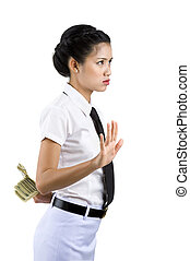 argent, femme, dissimulation