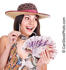 argent., femme, ruble., russe