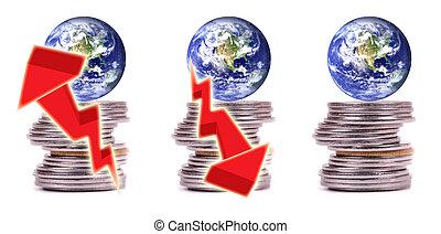 argent, finance, et, économie, de, monde