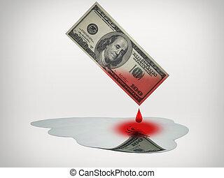 argent, flaque, gouttes, eau, sanguine, frais