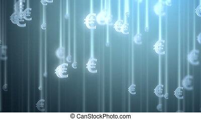 argent, fond, pluie, euro