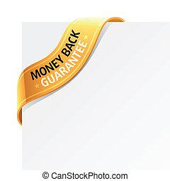 argent, garantie, dos, signe
