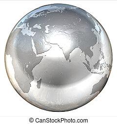 argent, globe