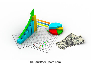 argent, graphique financier, graphique