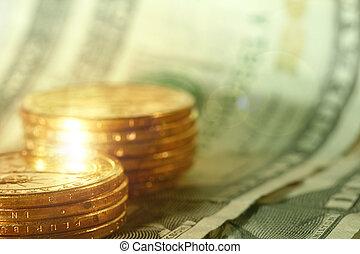 argent, gros plan