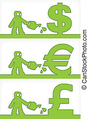 argent, humain, signes