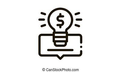 argent, icône, animation, intelligent, solution