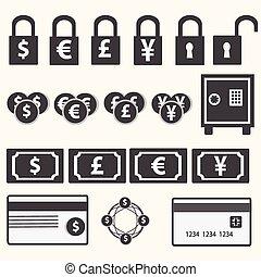 argent, icônes