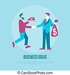 argent, idées, échange