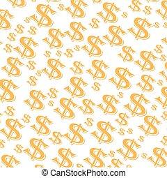 argent, illustration, dollars