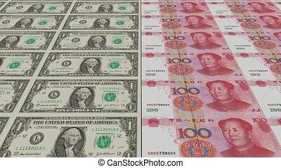 argent, impression, animation, dollar