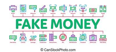 argent, infographic, bannière, vecteur, faux, minimal