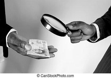 argent, inspection