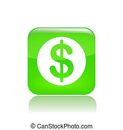 argent, isolé, illustration, unique, vecteur, icône
