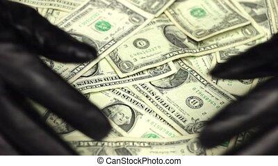 argent, mains, cambrioleur, voler