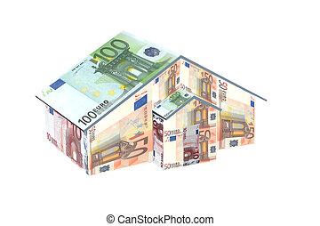 argent, maison