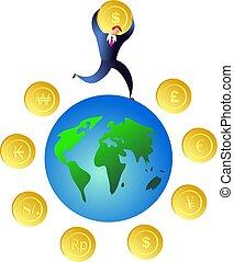 argent, mondiale
