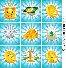 argent, or, icônes