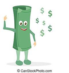 argent, papier, caractère