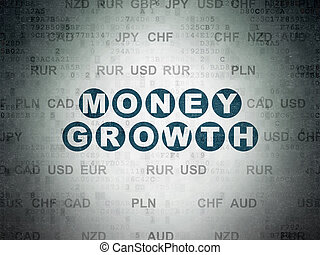 argent, papier, croissance, fond, numérique, données, concept:
