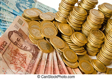 argent, pesos, mexicain, beaucoup