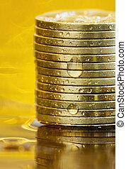 argent, pièces, business, reussite