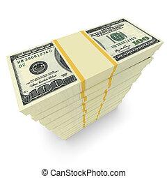 argent, pile, isolé, blanc
