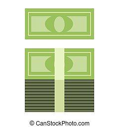 argent, pile, rouleau