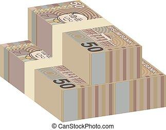 argent, piles, faux
