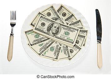 argent, plaque