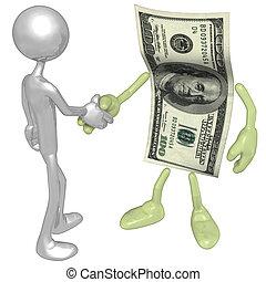 argent, poignée main