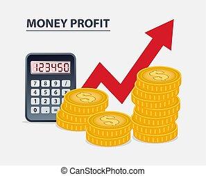 argent, profit, concept