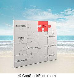argent, puzzle, concept