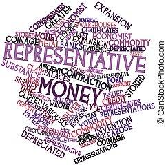 argent, représentant