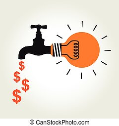 argent, robinet, idée
