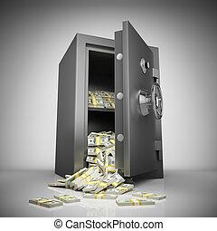 argent, sûr, banque