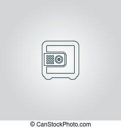 argent, sûr, icône