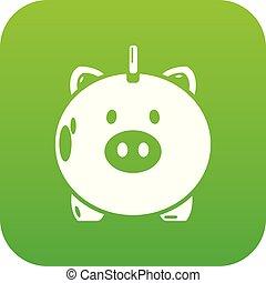 argent, sûr, vecteur, vert, icône