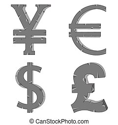 argent, signes