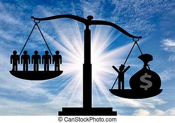 argent, social, puissance, économie