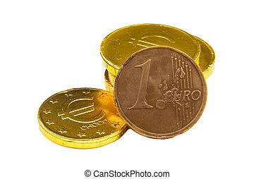 argent, tas, chocolat