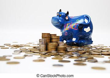 argent, taureau, &