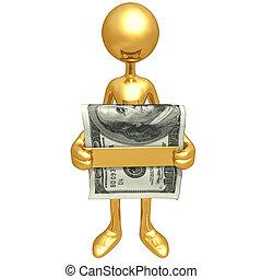 argent, tenue, agrafe